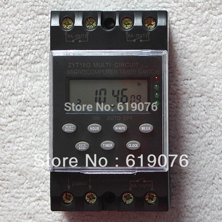 Zty16g 3a 220vac 25a Micro Computer Auto Ringer Digital Bell Program Bell Controller School Programmable Timer Switch 10 Minute Timer 5 Minute Timer From