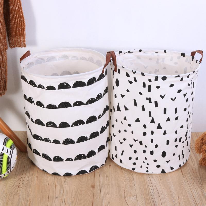Foldable Laundry Storage Basket Clothes Storage Bag Dirty Laundry Basket Kids Toys Organizer Home Sundries Storage Barrel
