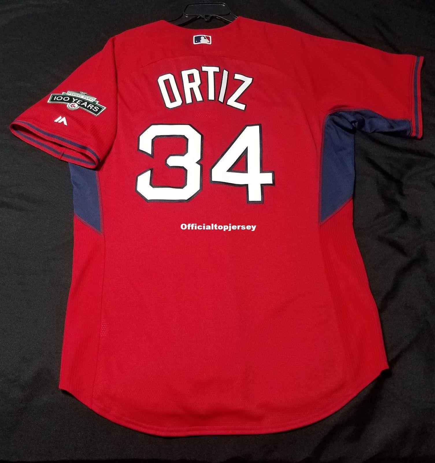 5aedc085b7b majestic cheap david ortiz 34 boston red sox bp cool base jersey mens  stitched sharp wholesale