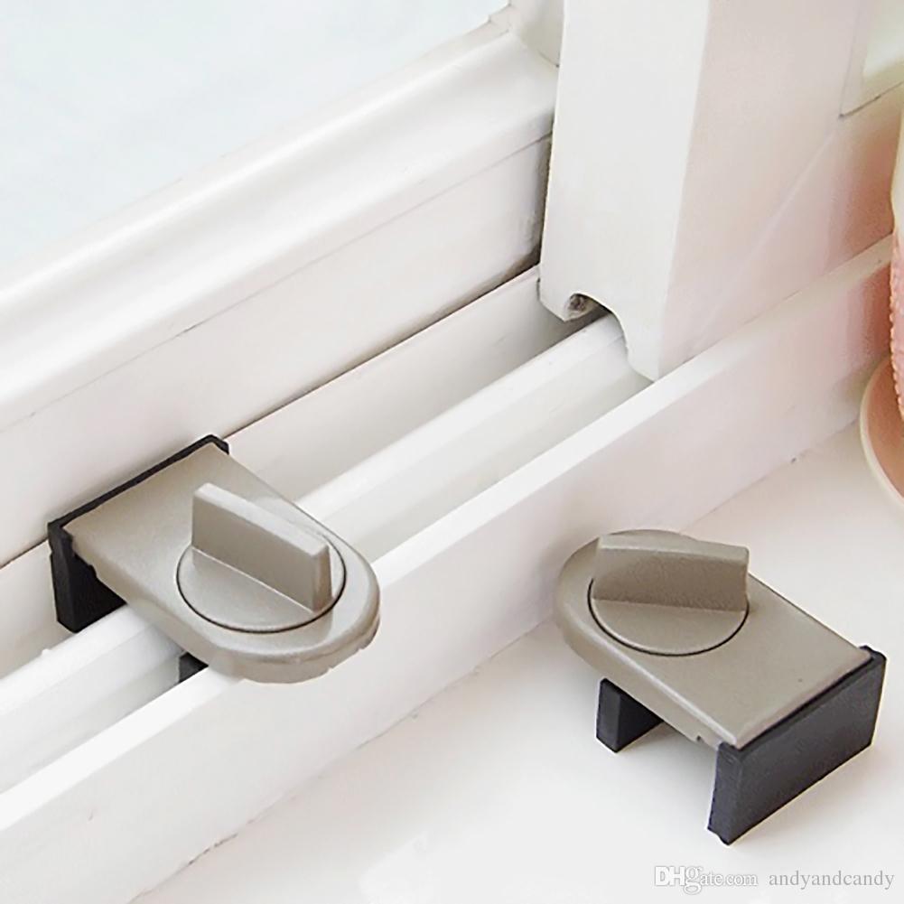 2018 Window Sliding Lock Sash Stopper Cabinet Locks Straps Doors