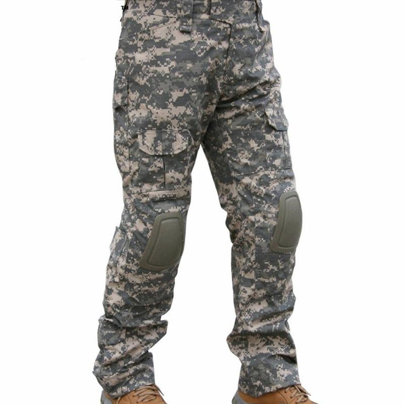 1731aef995e71 CQC Tactical Pants Cargo Men Army Hunting Paintball Camouflage BDU Combat  Pants With Knee Pads ACU Canada 2019 From Kangshifuwat, CAD $66.43 | DHgate  Canada