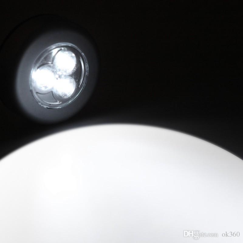 3LED 4 LED Akülü Çubuk Dokunun Dolap Dokunmatik Işık Lambası Akülü Ev Mutfak Dolabı Dolabı Altında Itme Dokunun Sopa Üzerinde Lamba