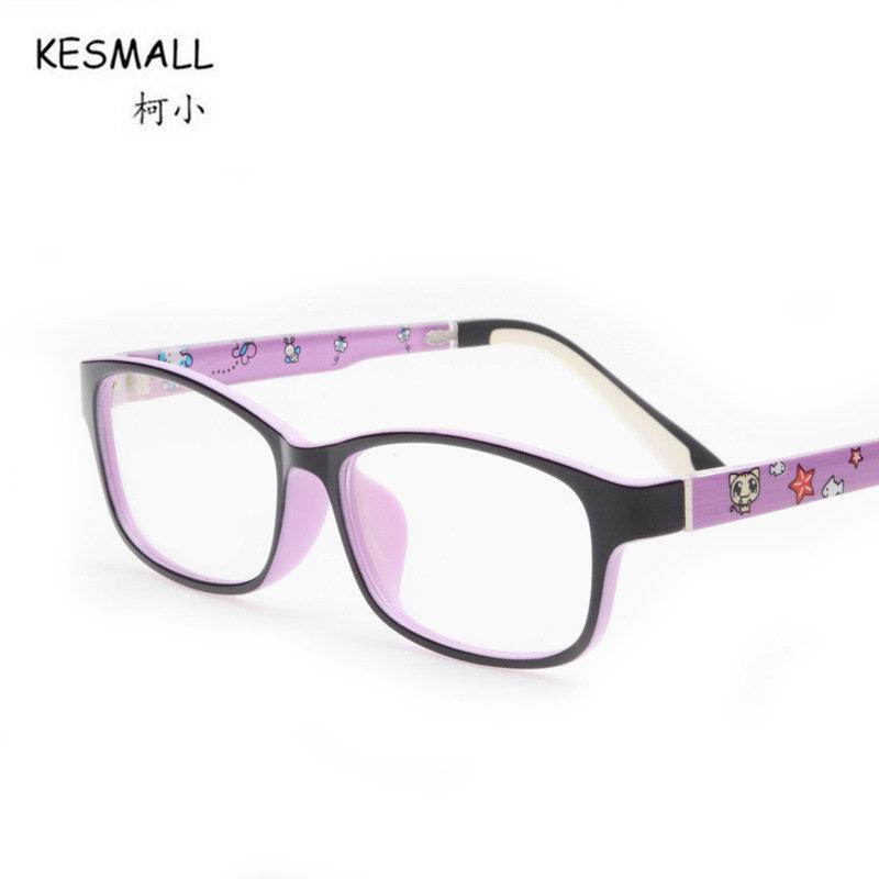 a98f52e627 2019 KESMALL 2018 Fashion Kids Glasses Frame Blue Color TR90 Optical  Eyeglasses Frames Boy Girl Square Shaped Myopia Eyewear XN251 From  Shuidianba