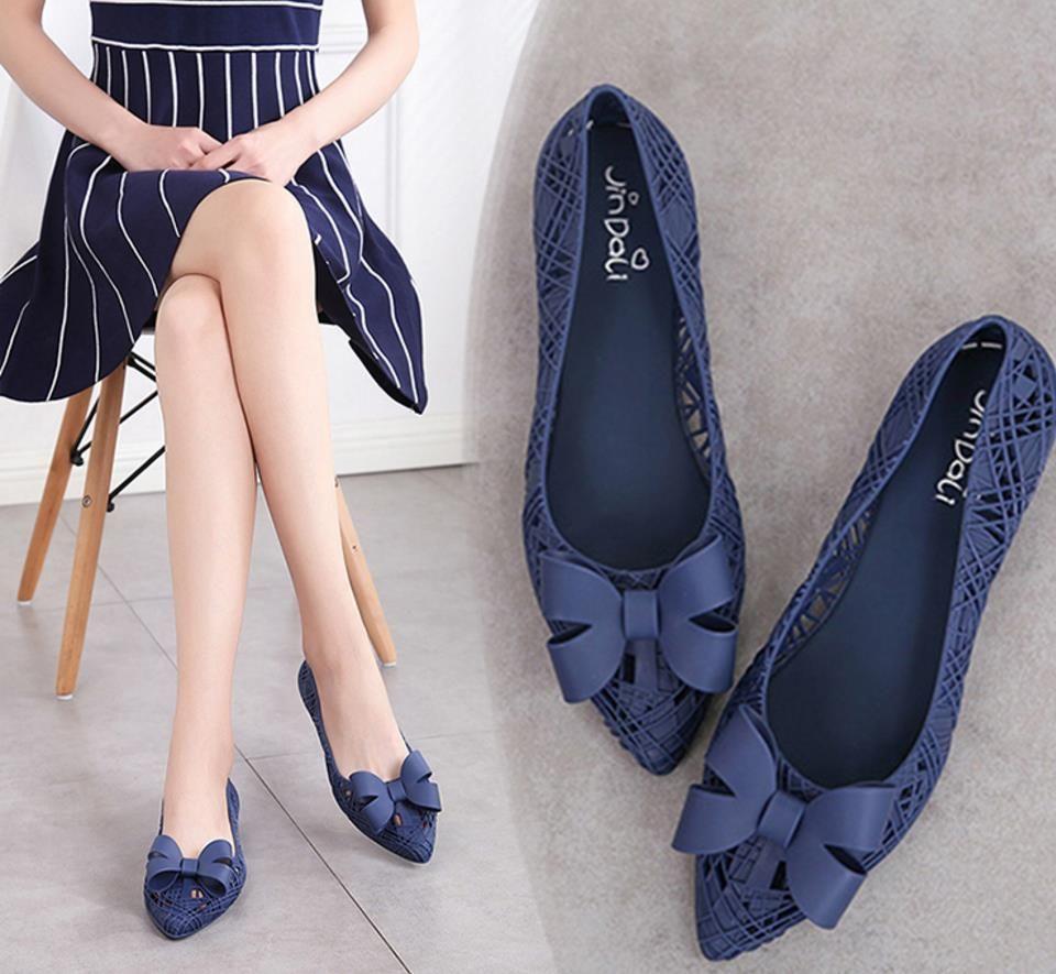 Compre Jalea Zapato Mujeres Dama Fondo Plano Nido Bowknot 2018 8OXPk0nw