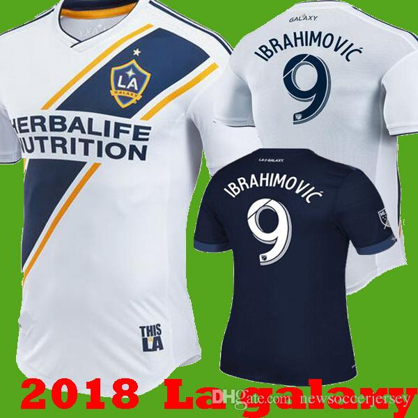 2019 2018 2019 La Galaxy Zlatan IBRAHIMOVIC GIOVANI Home White Soccer  Jerseys 18 19 LA Galaxy Away Blue KAMARA J.DOS SANTOS Los Angeles Shirts  From ... 9364a594b
