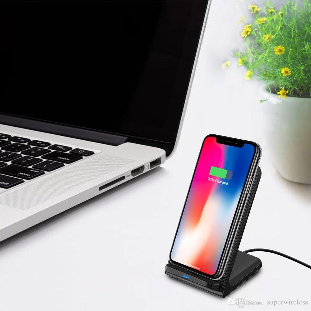 para Ip X Max Xr rápido Qi cargador inalámbrico del soporte del cargador del teléfono de la almohadilla para Samsung S8 note8 Qi habilitado los teléfonos inteligentes