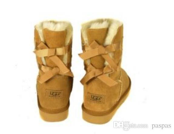 5b053cb27efc Compre Venta Caliente De Las Nuevas Mujeres Australia Classic Tall Boots  Mujeres Niña Botas Boot Snow Invierno Botas Fucsia Negro Azul Rojo Cuero  Zapatos A ...