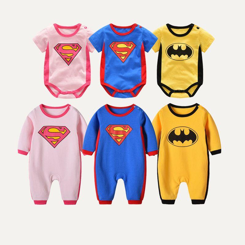 f38194830 2019 Superman Batman Rompers Jumpsuits For Newborn Baby Boy Batman ...