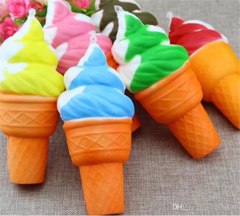 Dondurma Jumbo kawaii Sevimli Squishy Yavaş Yükselen Kolye Telefonu Sapanlar Charms Dondurma Ekmek Queeze Çocuk Oyuncakları