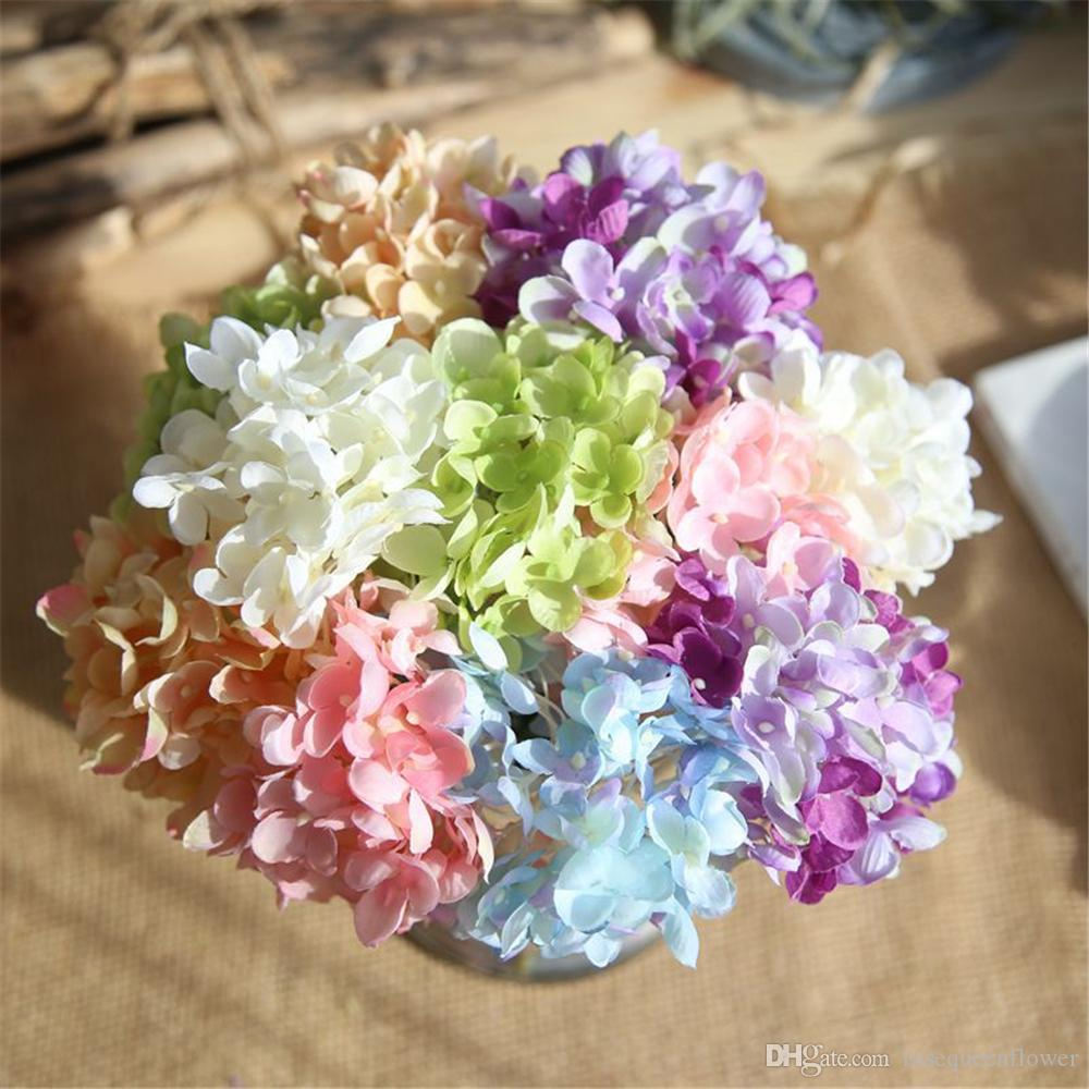 Diy Artificial Flower Bouquet Hydrangea Silk Wedding Flowers Floral
