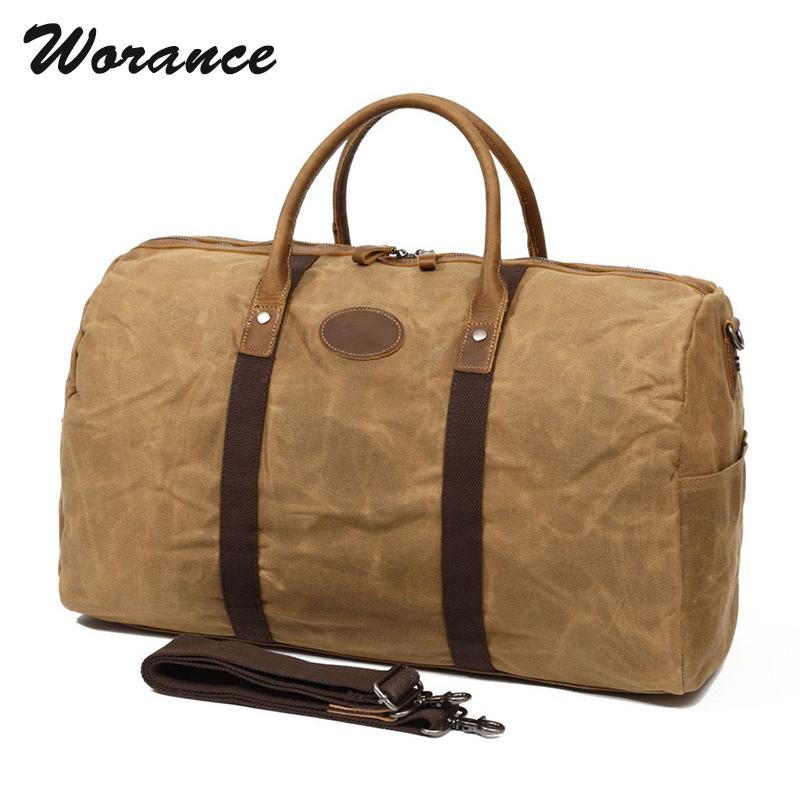 55e916c04e Worance 2018 New Men Business Travel Bags Vintage Waterproof Canvas Luggage  Organizer Large Capacity Casual Overnight Duffle Bag Hand Bags Duffel Bags  From ...