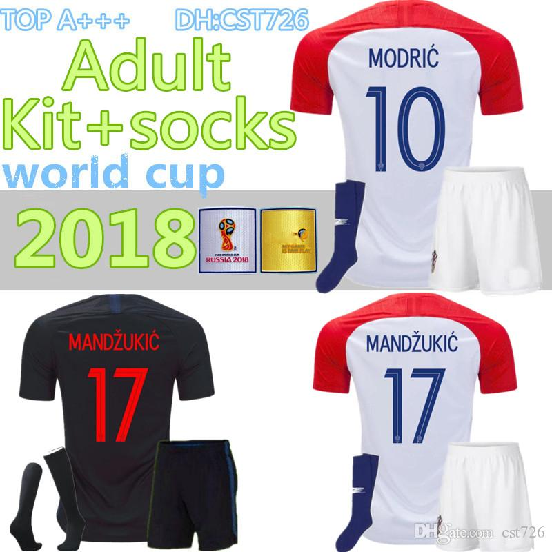 ef9f00aee 2019 2018 Designed For Home Adult Kit+Socks Soccer Jersey MODRIC PERISIC  RAKITIC MANDZUKIC SRNA KOVACIC KALINIC Hrvatska Football Shirt From Cst726