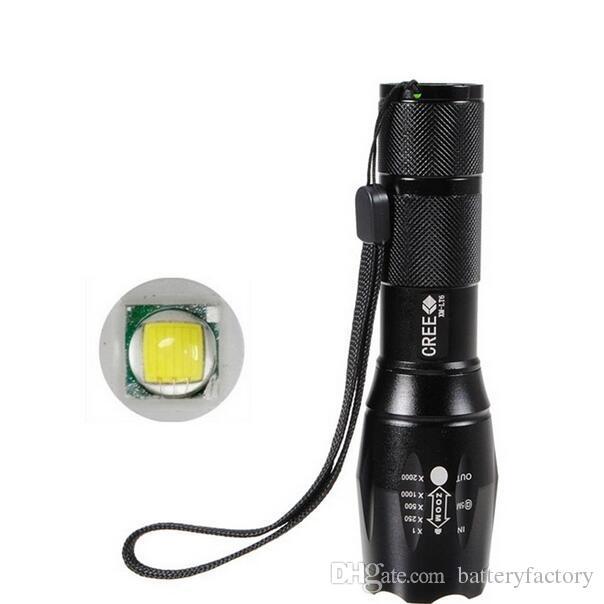 무료 DHL, G700 E17 크리 XML T6 2000Lumens 높은 전원 LED 토치 1x18650 배터리에 대 한 Zoomable 전술 LED 손전등 토치 빛