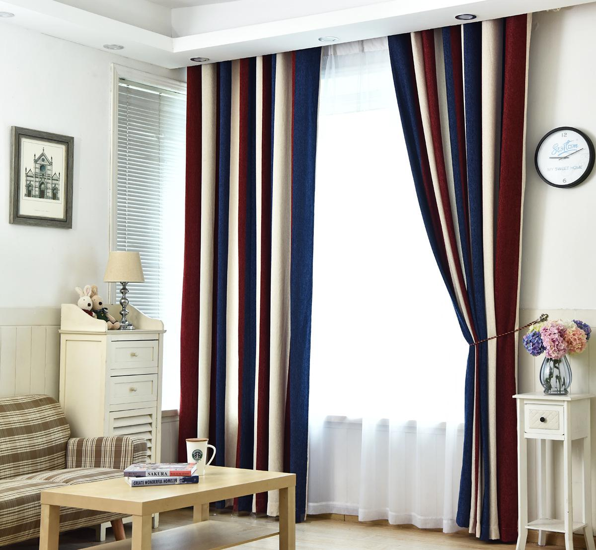 Thick Double sided Chenille Curtain for Living Dining