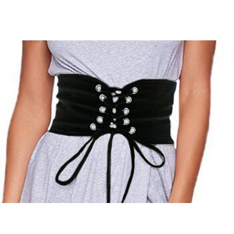 Compre Mujeres Sexy Cinturones Anchos Lady Fashion Wide Hebilla Elastizada  Corset Cintura Cintura Cinturón Nuevo A  27.72 Del Ancient88  16002940a3f0
