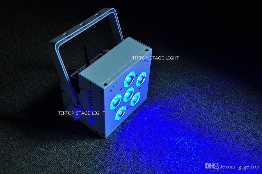 Fiable LED 6x15W DMX inalámbrico Batería Par Luz RGBAW 5IN1 Leds Control de luz de efecto de control de teléfono móvil / móvil Certificado CE