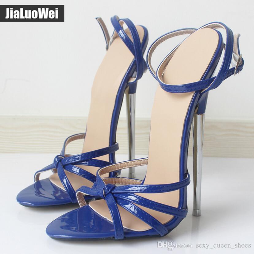 Man Fetish Dancing shoes Red GiaroSlick 2018 Fashion Ankle Strap buckle sandals open toe Women Metal heel High-Heeled unisex summer heels
