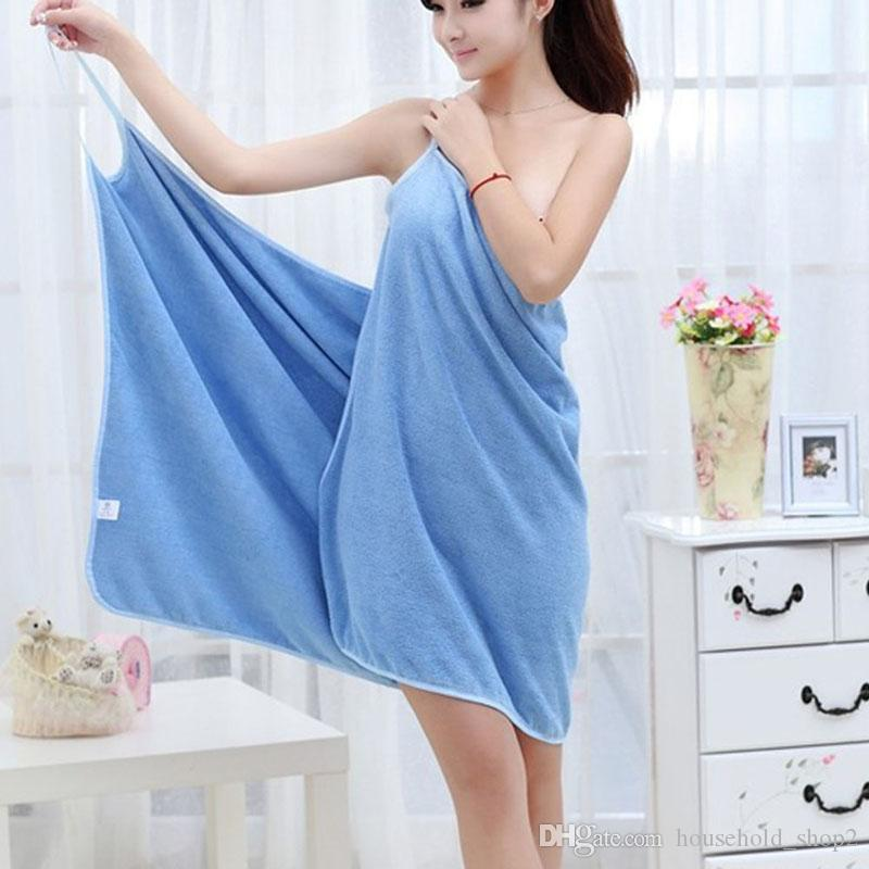 2020 women Wearable Bath beach Towel 140*70cm microfiber Fashion Lady Girls Fast Drying Bath Towel Skirt