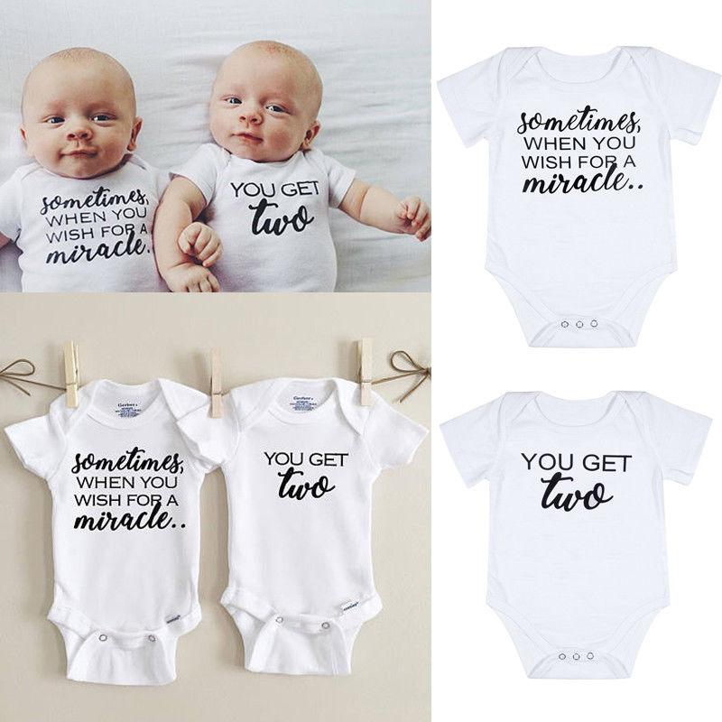 pudcoco Newest Arrivals Hot Infant Newborn Toddler Twins Baby Boys Girls Casual Clothes Bodysuit Playsuit Matching Outfits Set