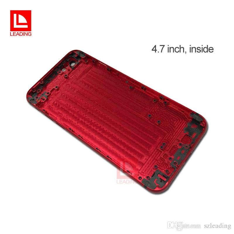 Coque arrière rouge pour iPhone 6 6P 6S 6SP 6SP 7 7P Plus
