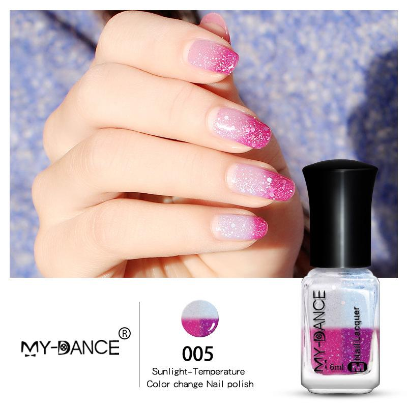 Mydance Based Temperature Sunlight Color Changing Nail Polish Peel