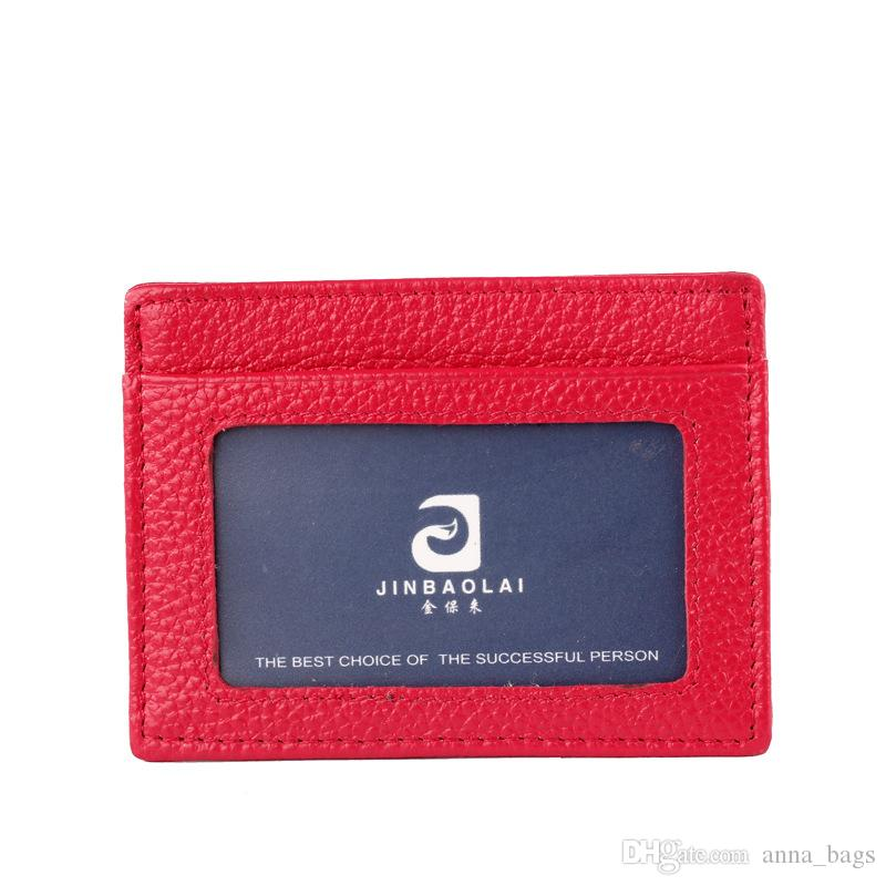 sıcak satış çoklu renk ultra ince hakiki deri id banka kredi kartı vaka cüzdan Kartvizitlik