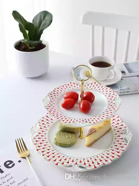 Creative Round Fruit Plate Ceramic Dishes HomeHotel Dishes Dishes Gift Tableware DR105