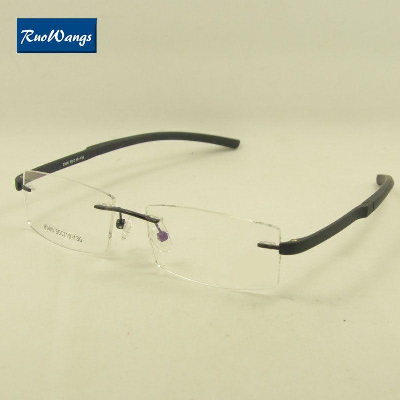 Großhandel Ruowangs Brillen Optische Rahmen Brillen Rahmen Randlose ...