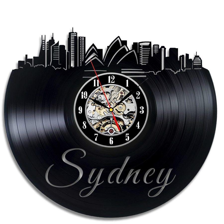 Großhandel Australien Stadt Vinyl Record Wanduhr Moderne Wohnkultur Wand  Kunst Schlafzimmer Wohnzimmer Dekorationen Weihnachten Halloween  Personalisierte ...