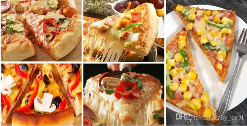 Triangle Kraft Paper Pizza Box Blank Pie Cheese Cake Takeout Packaging Boxes Party Snack Candy Packing ZA6101