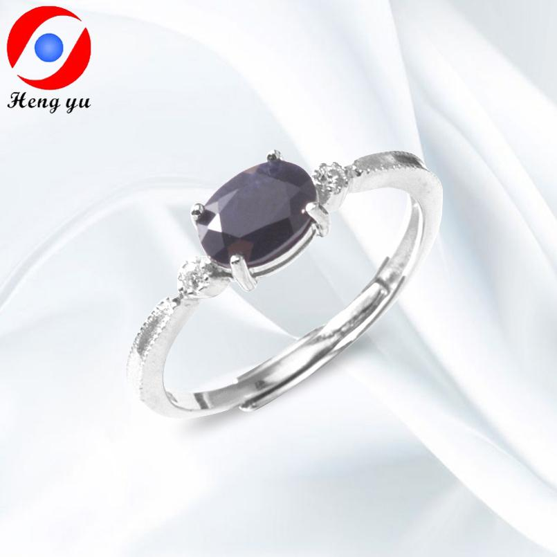 ac91bd1c1 2019 HENGYU Sterling Silver 925 Ring Sapphire Fine Jewlery Women Adjustable  Finger Ring Natural Gemstone RIngs Wedding Gifts J0043 From Meetsue, ...