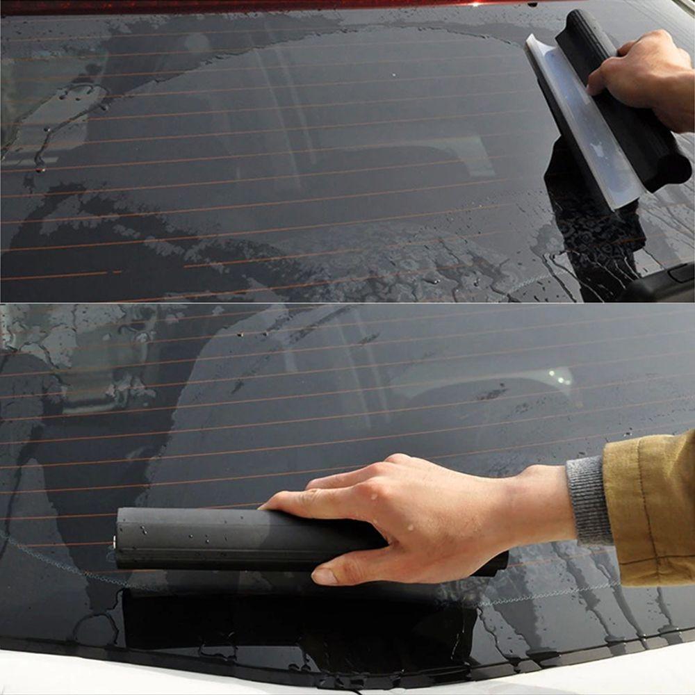 Mirror Window Wiper Auto Wiper Cleaner Blade Car Washer Windshield Wash Tools Glass Window Cleaning Brush Scraper Rubber