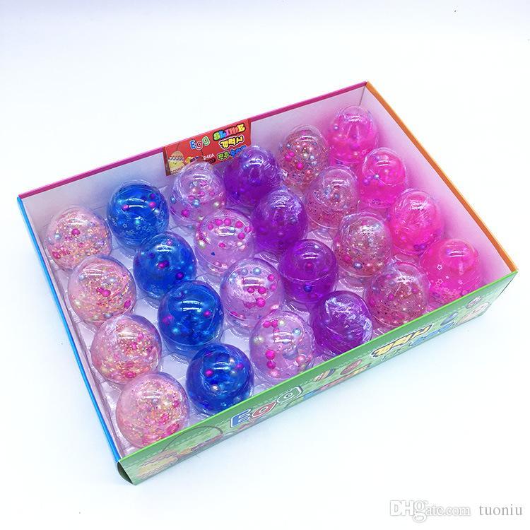 Crystal Slime Egg ArtChaser Colorful Slime Soft Stress Relief Toy Perfumado Sludge Toy Adecuado para niños Estudiantes Favores de fiesta Paquete de 12