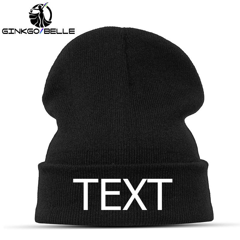 Personalized Beanie Hat Skullie Cap Slouchy Winter Autumn Embroidery Logo  Choose Your Quote Name Design Text Style Thread Color UK 2019 From Simmer a82a8871bc8