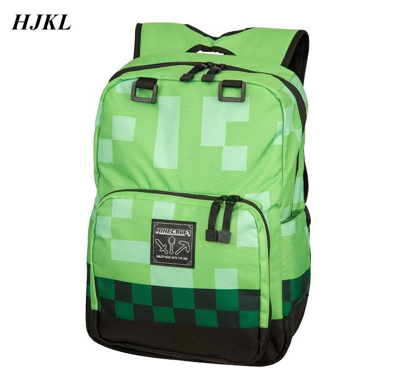 b53dd2185f9f HJKL Minecraft Backpack Children School Bags High Quality Boy Backpacks Sac  A Main Travel Good Bag For Kids Mochila Good Gift Y1890302 Cheap Backpacks  ...