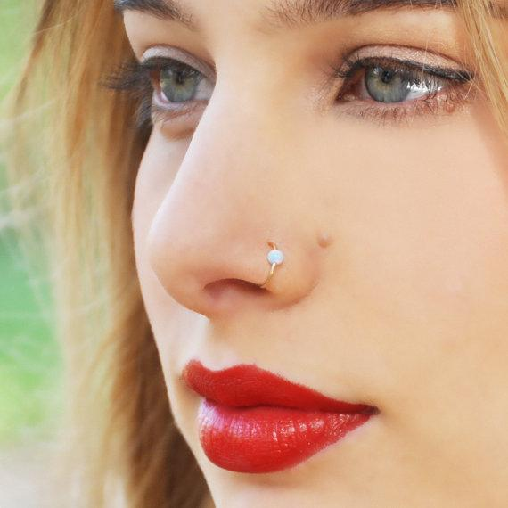 Fake Septum Piercing Nose Ring Hoop Nose For Women Faux Clip Rings Clicker Non Body Jewelry For Women Mothers Day Gift