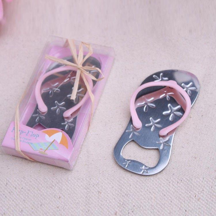 starfish flip flops bottle opener Creative Sandals Shoes Beer Bottle Red Wine Openers Slipper Shaped Wedding Favor F542753