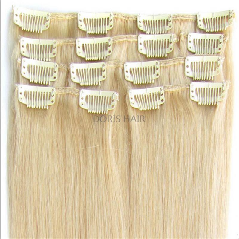 9A كليب في الشعر التمديد الإنسان المستقيم اللون ميكس براون شقراء 16
