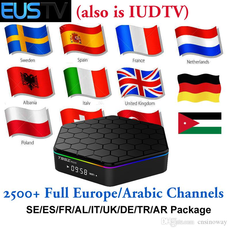 Android 7 1 TV Box T95Z Plus to watch European Arab French Africa Indian  Turkey Dutch Swedish Europe Channels via IUDTV