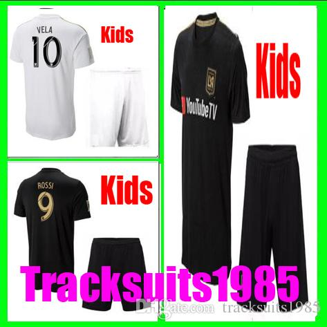 33b51c05a 2018 Rugby 2018 2019 Kids Jersey LAFC Carlos 10 Vela GABER 9 ROSSI CIMAN  ZIMMERMAN 18 19 Home Away Jerseys Child Teen 10 Or More Free To Send DHL  From ...
