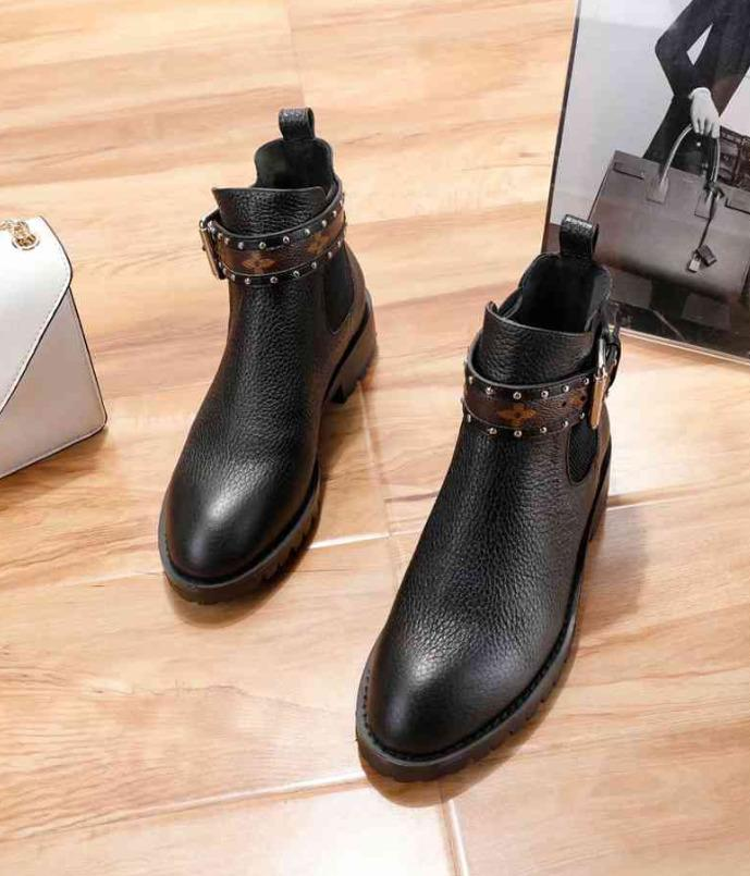 b2d31d0e68b0 Women Counter Fashion 4-inch Booties Women Ankle Boot Designer ...