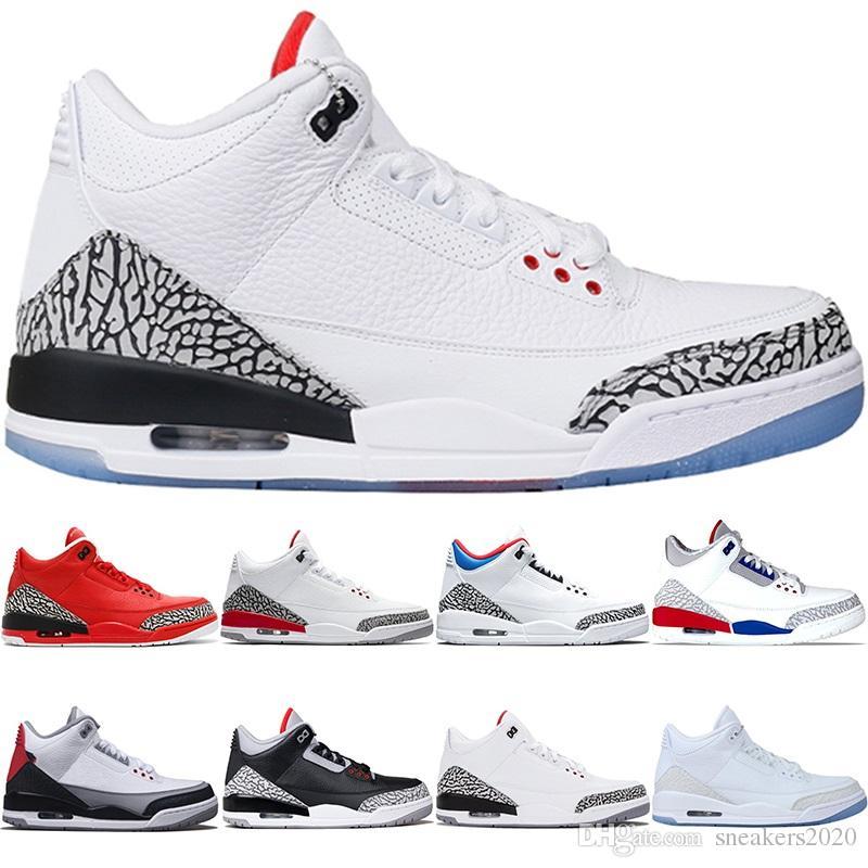 best sneakers 97f27 b0e33 Scarpe Sportive Uomo Nike Air Jordan 3 3s Retro Uomini Scarpe Da Basket  Katrina Tinker JTH NRG Nero Cemento Linea Libera Corea Design Bianco Bianco  Trainer ...