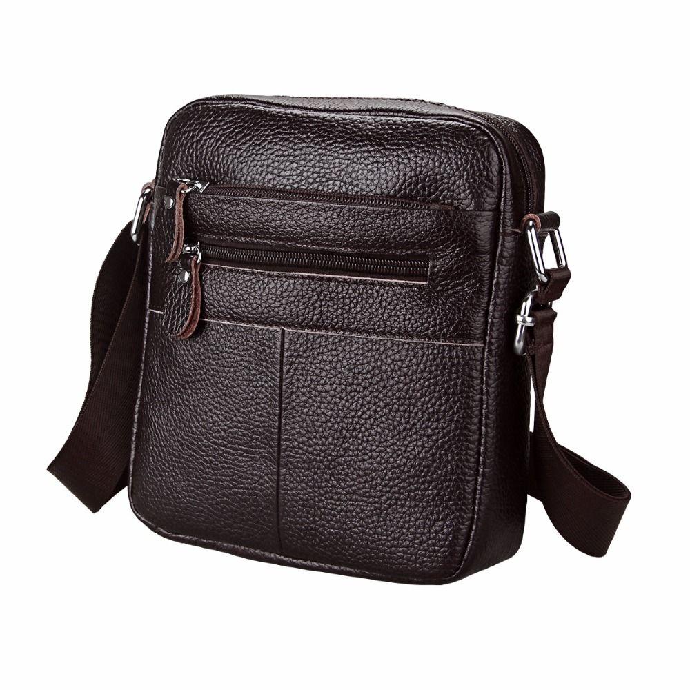 b96752db6e Etaofun Brand Cow Genuine Leather Messenger Bags Men Travel Shoulder Bag  Cowhide Flap Bag Vintage Crossbody Bags For Mens Bolsas Luxury Bags Cross  Body Bags ...