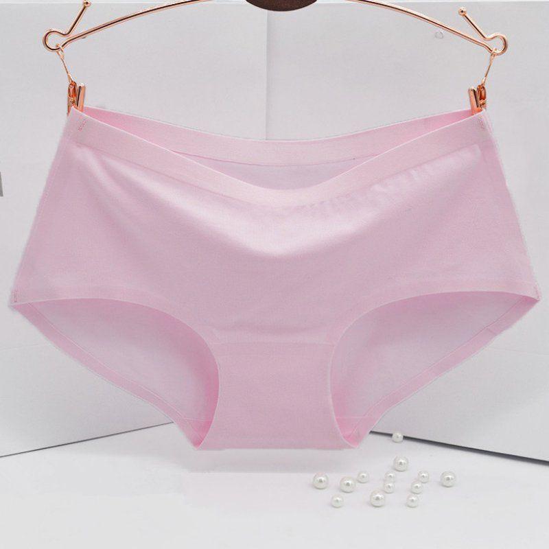 91a3f37c6705 Nuevo proceso Bragas de algodón puro para mujeres Ropa interior sin  costuras sin dejar rastro Ms