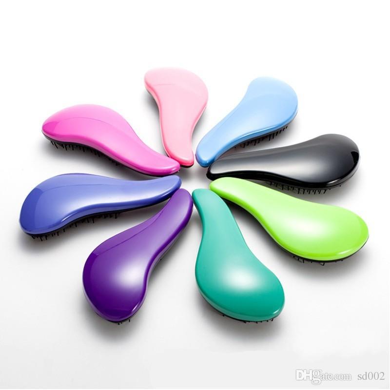Pettine di plastica colorata Gamba di pollo Tipo Spazzola capelli anti statica Morbido soffice doccia massaggio pettini rosa blu 3 1om B