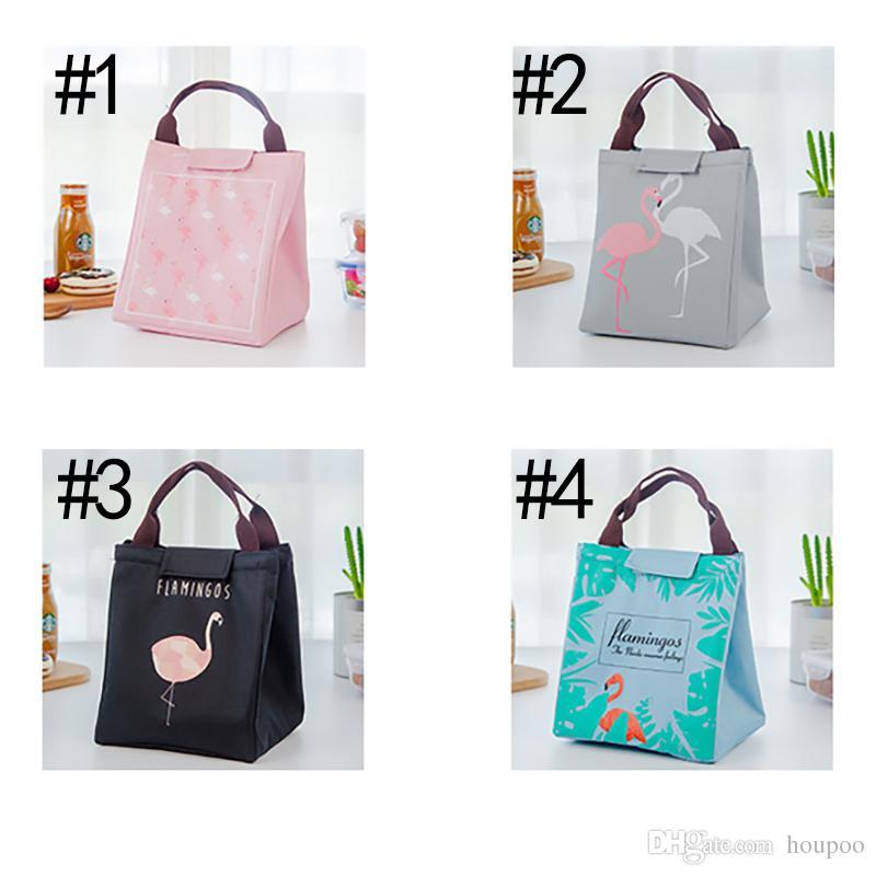 Fashion Flamingo Insaluted Lunch Box Bags Dinner Plate Sets Handbags Travel Gadgets Closet Organizer Kitchen Accessories Home Decor