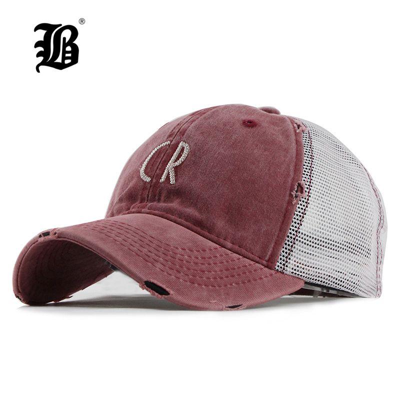 6ab1f7c0152 FLB Mesh Baseball Cap For Women Men S Summer Fitted Cap Snapback Dad ...
