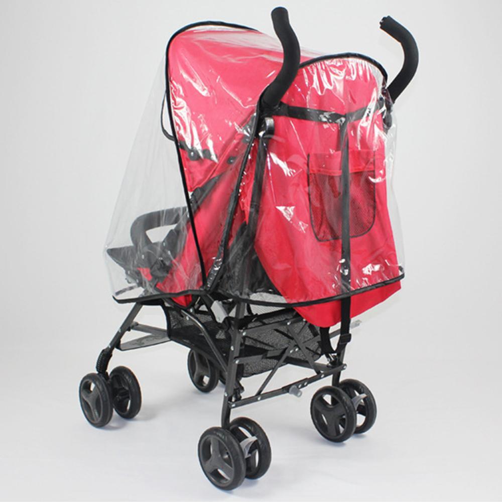 f51e9bad768b Baby Stroller Accessories Universal Waterproof Rain Cover Wind Dust Shield  Stroller Raincoat Zipper Open For Baby Strollers
