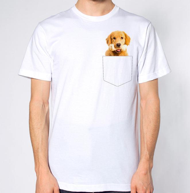 c7a6e1fb12 ... golden retriever t shirt dog top bone crest pocket trendy t shirts ...