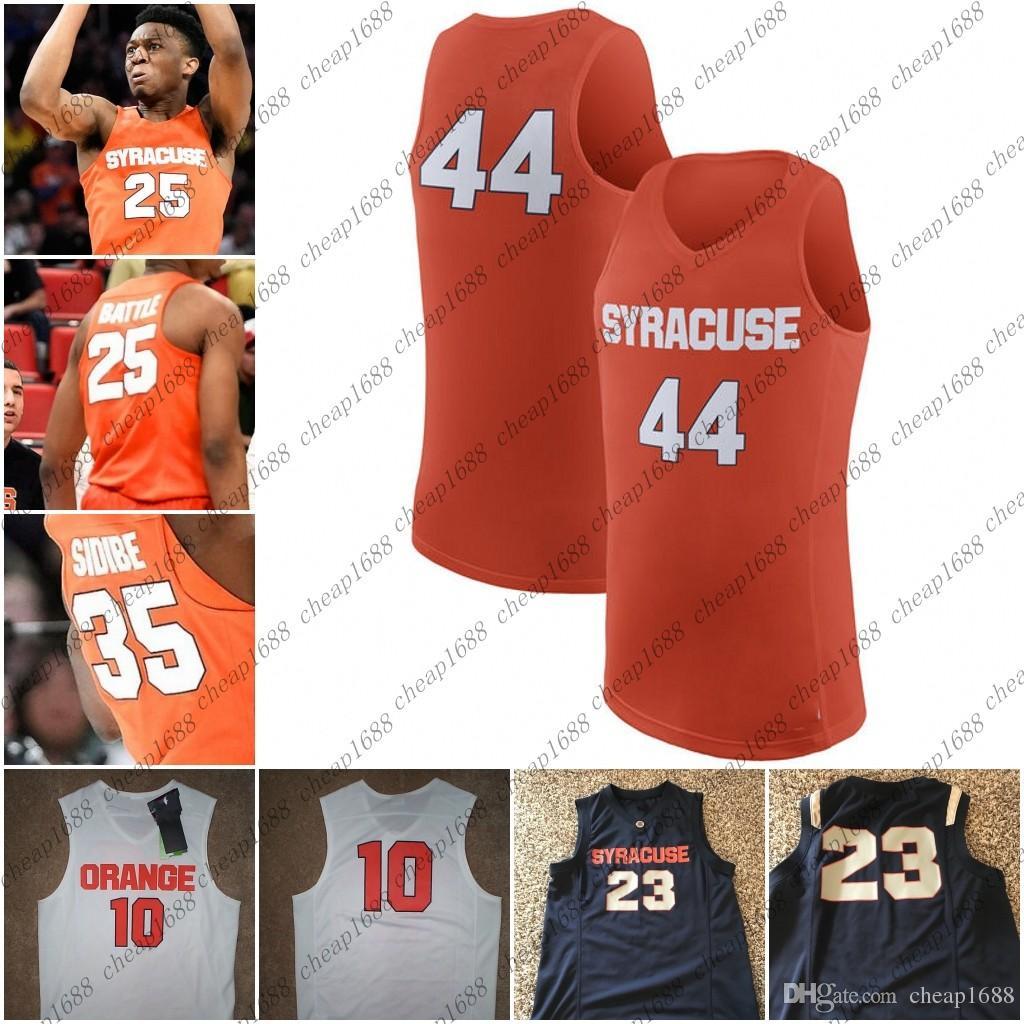 purchase cheap 47417 5a2dc Custom NCAA Syracuse Orange 25 Tyus Battle 11 Oshae Brissett 23 Frank  Howard Stitched Any Name Number College Basketball Jersey